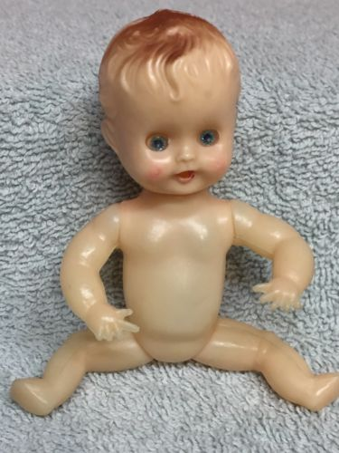Vintage Celluloid Sleepy Eye Kewpie Doll Boy Baby