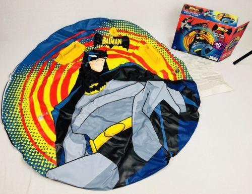 Vintage Kidz Kraze Batman Cartoon 40' Inflatable Pool Ring Tube BATMAN NEVER USE