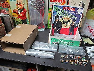 GREEN HORNET FLICKER FLASHER RINGS NEAR FULL DISPLAY BOX '66