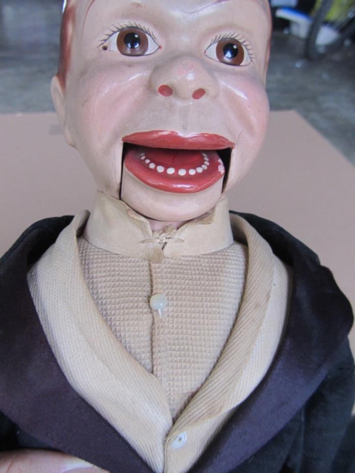 Original Effanbee Charlie McCarthy Ventriloquist Doll Edgar Bergen Antique Old
