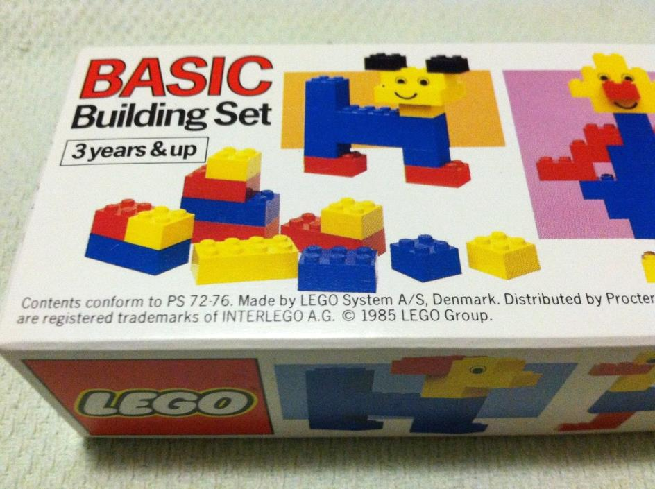 VINTAGE LEGO BASIC BUILDING SET UNOPENED SEALED BEGINNER KIDS FIRST LEGGOS KIT