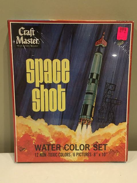 Water Color Set Craft Master Vintage 1969 Space Shot Factory Sealed NIB