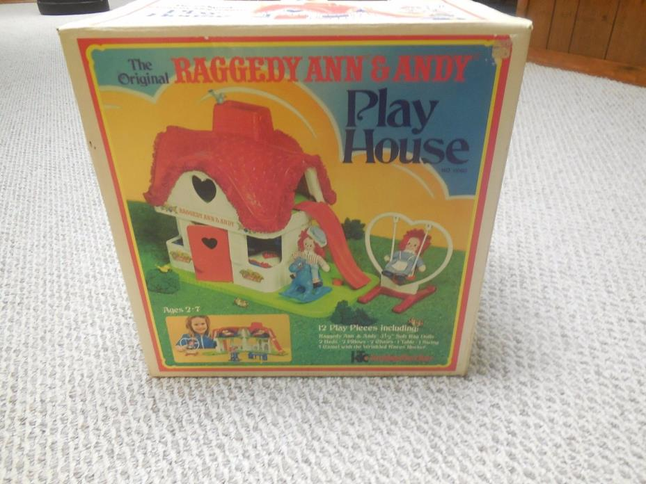 Knickerbocker The Original Raggedy Ann and Andy Playhouse 1977 Complete!