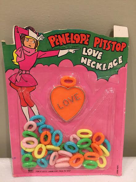 Penelope Pitstop Love Necklace Vintage 1971 Hana Barbera