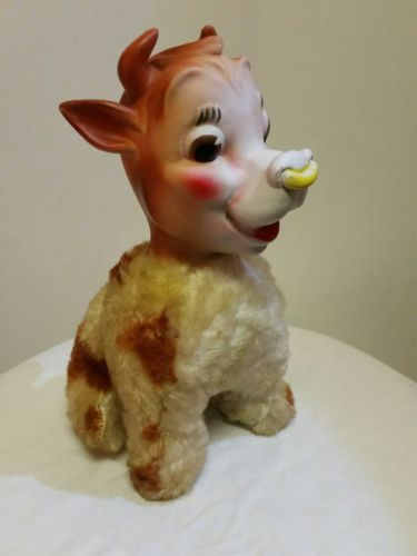 Vintage BEAUREGARD THE COW PLUSH DOLL (1950's) MY TOY Elsie's Son BORDEN