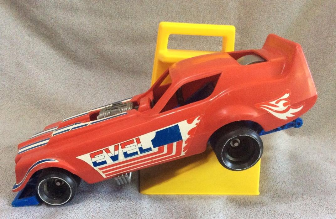 1970s Evel Knievel vintage Ideal Funny Car + Gyro Energizer Launcher