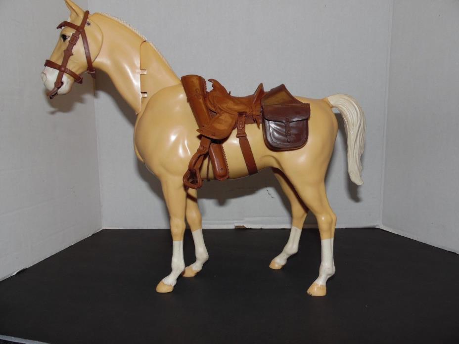 1960'S MARX JOHNNY WEST GOLDEN PALOMINO HORSE w/ NODDING HEAD