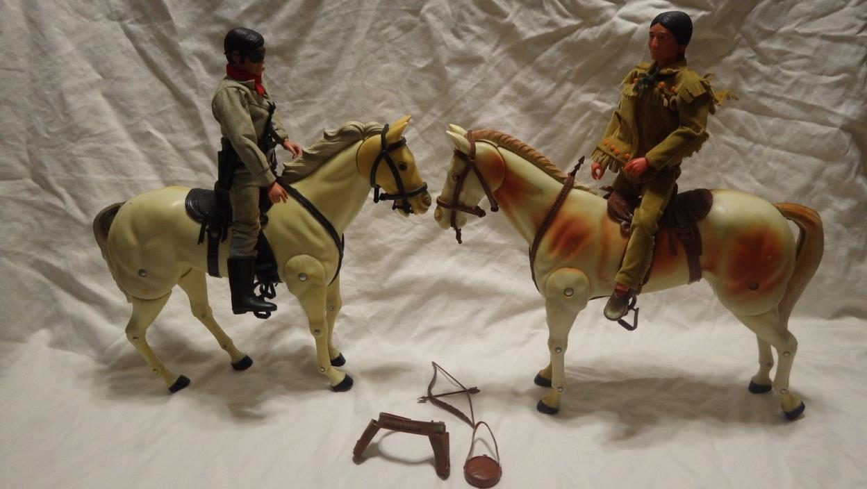 Vintage Lone Ranger Tonto Silver and Scout 1973