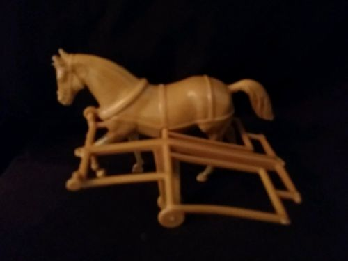 VINTAGE PLASTIC STAGECOACH ~ COWBOY HORSE DRAWN WAGON Replacement Pieces