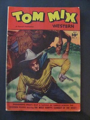 Vintage Fawcett July 1948 Tom Mix Western Volume 2 No 7 Comic Book