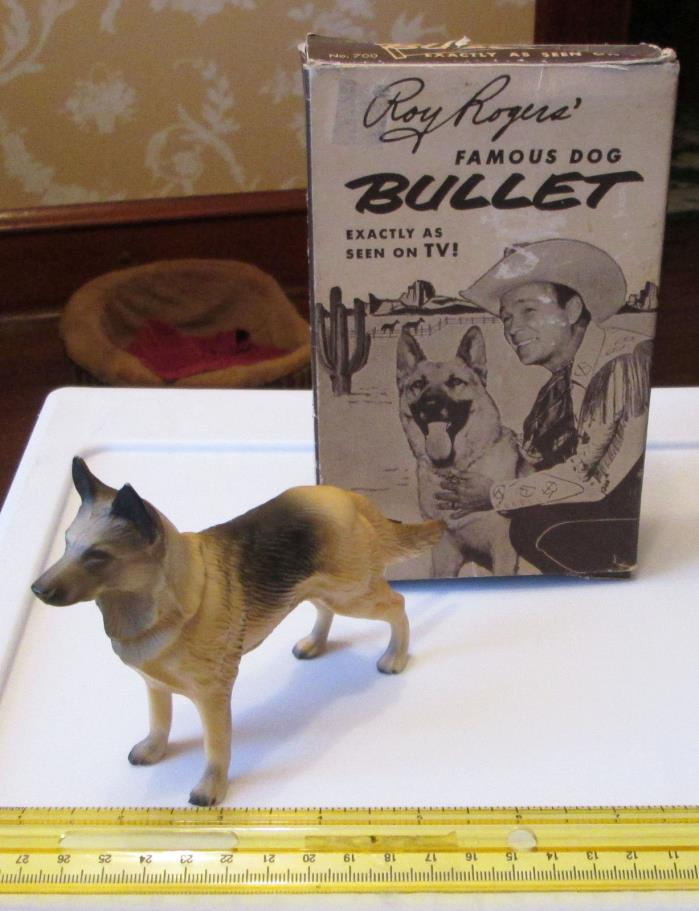 OLD VINTAGE WESTERN COWBOY ROY ROGERS BULLET DOG HARTLAND TOY W ORIGINAL BOX 700