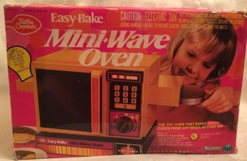 Easy Bake Mini Wave Oven 1978-Kenner In Box Works