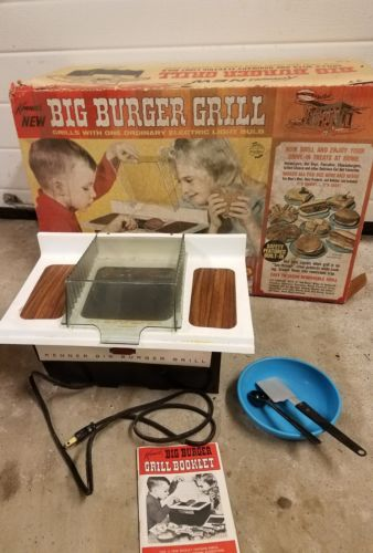 Kenners New Big Burger Grill Working Original Box Vintage Electric Toy