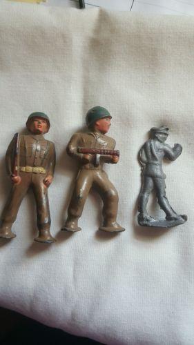 3 Vintage Lead Army Men
