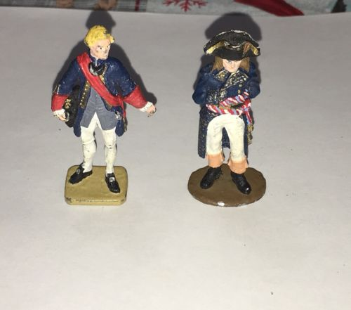 "2 VINTAGE 18TH CENTURY 2 1/4"" LEAD SOLDIERS"