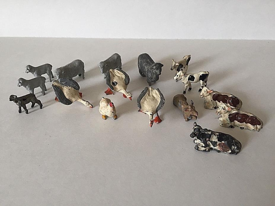 RARE VINTAGE ZOO LEAD FIGURINES - SET OF 16