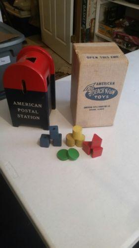 Vintage American Teach N Fun Toys Postal Station