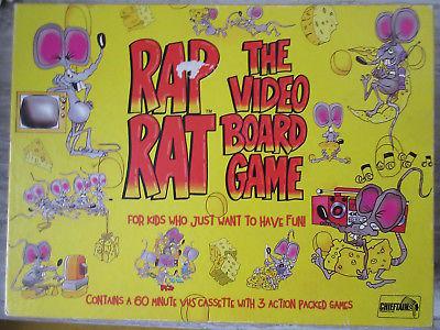 Old Vintage 1992 Rap Rat VHS Video Board Game