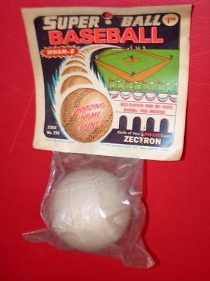 Vintage 1960's WHAM-O SUPER BALL BASEBALL mint SEALED PACKAGE 1966 MIP old stock