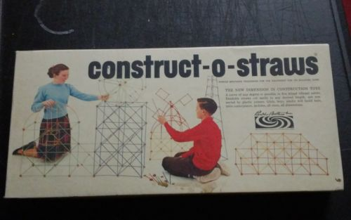 1964 Parker Brothers Constructo Straws Creative Building Toy Construct-o Vintage