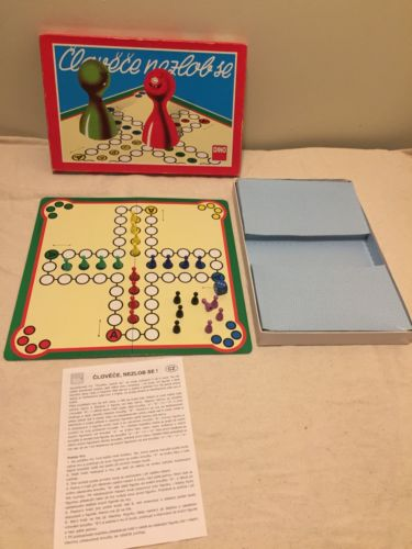 Ludo Vintage, Foreign Board Game, Czech Republic Complete W/ Instructions
