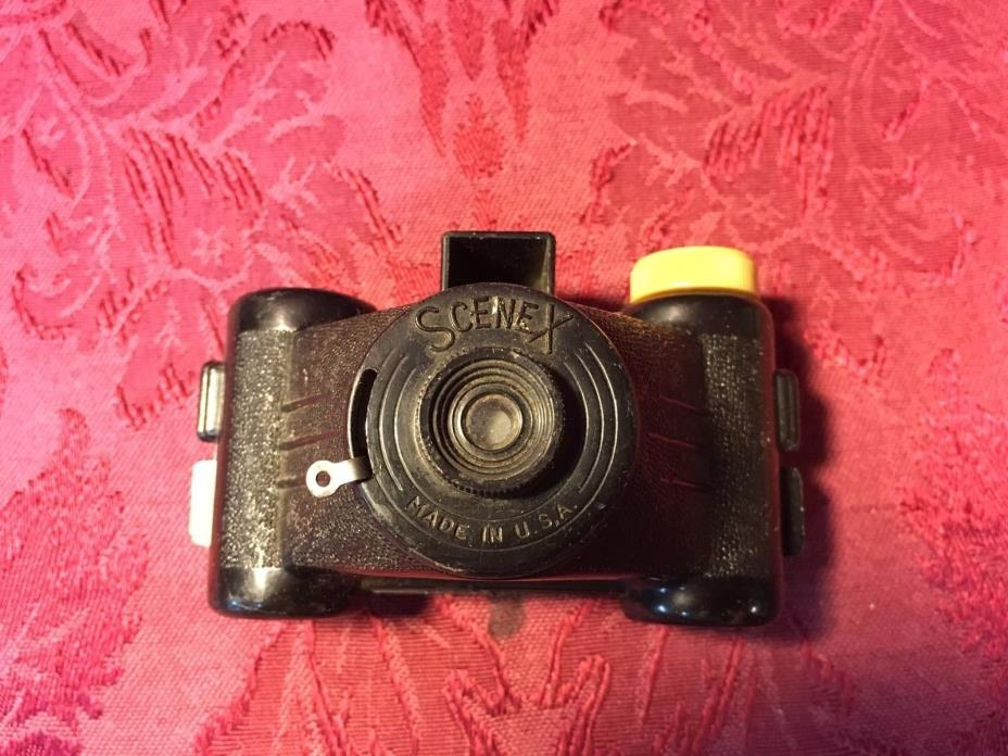 1950's Vintage Black Scenex Mini Toy Spy Shutter Camera Uses 828 Film SHIPS NOW!