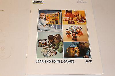 ORIGINAL VINTAGE 1976 GABRIEL TOYS LEARNING TOYS & GAMES TOYS CATALOG