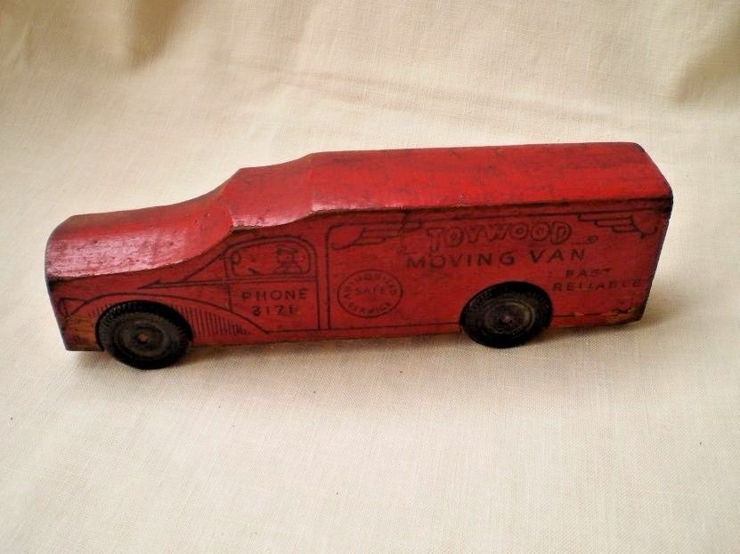 Antique Wooden Toy Advertisement Truck-1930's