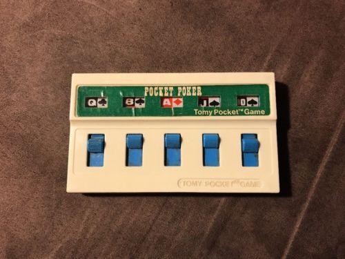 Vintage 1976 Tomy Pocket Game Pocket Poker! ~ Works! ~ Fastest Shipping! ~ LQQK