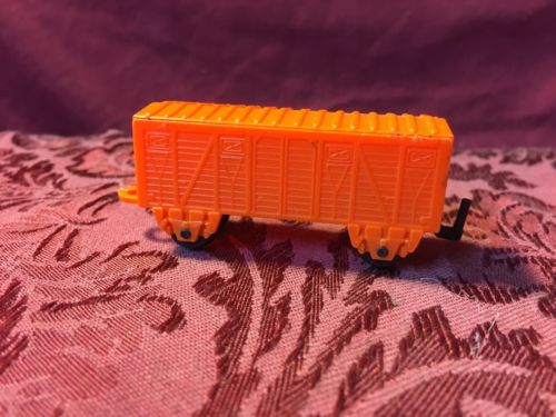 1950's-1960's Vintage Plastic Orange Train Freight Car SHIPS RIGHT NOW!