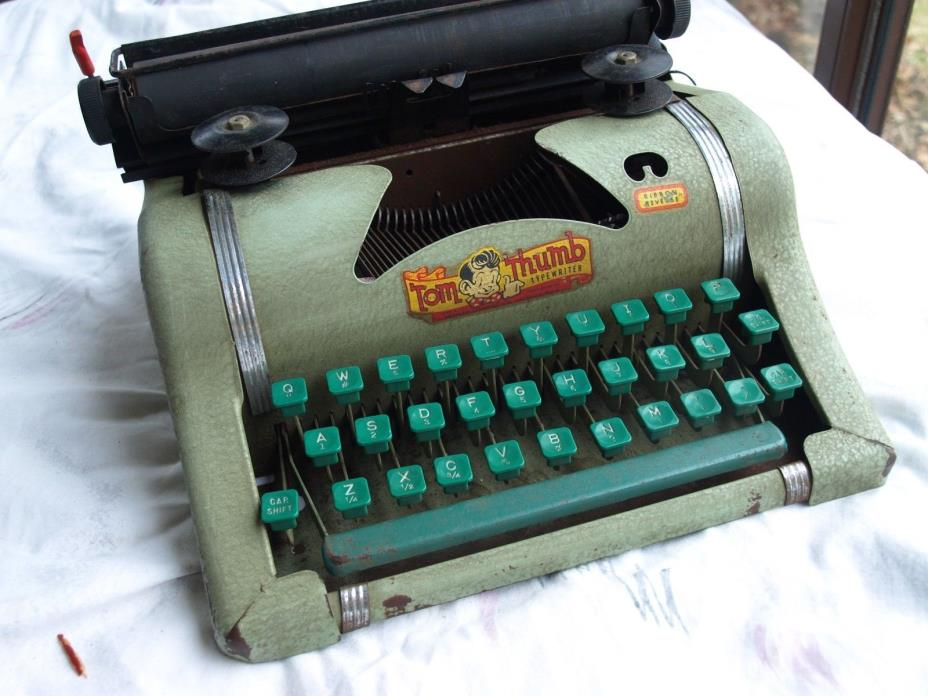 Vintage Tom Thumb Child's Metal Typewriter