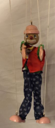 Clown String Puppet Mfg For Fairyland International Wood Painted