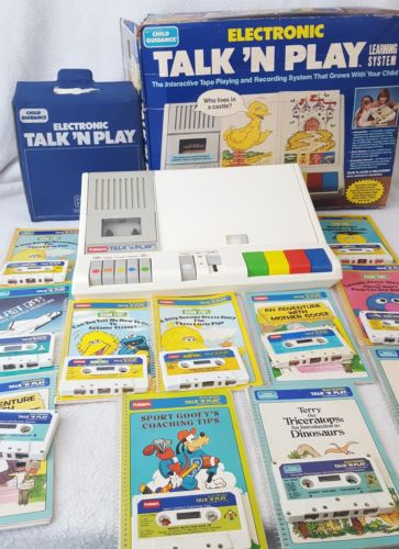 1984 Vintage Playskool Toy Electronic Talk 'N Play 11 Books and Cassettes
