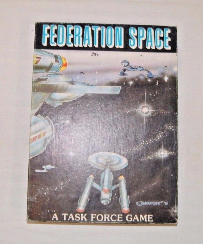 Vintage 1980 FEDERATION SPACE  Task Force Game Table No. 5005
