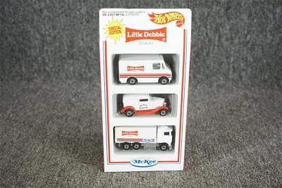 Set Of Three Little Debbie Hot Wheels Die Cast Metal Toy Cars