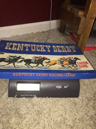 1960 Kentucky Derby Racing Game Vintage Board Game Whitman Horse Rare