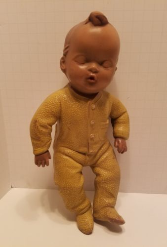 Antique Vintage Rubber Squeak Doll 1930's