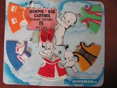 Horsman Dolls Rose O'Neill Kewpie Kin Clothes 5 Dresses & Shoes Kids Toy Set