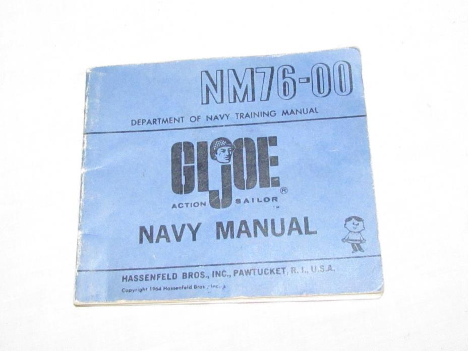 Vintage GI Joe Action Sailor Navy Manual NM76-00 1964