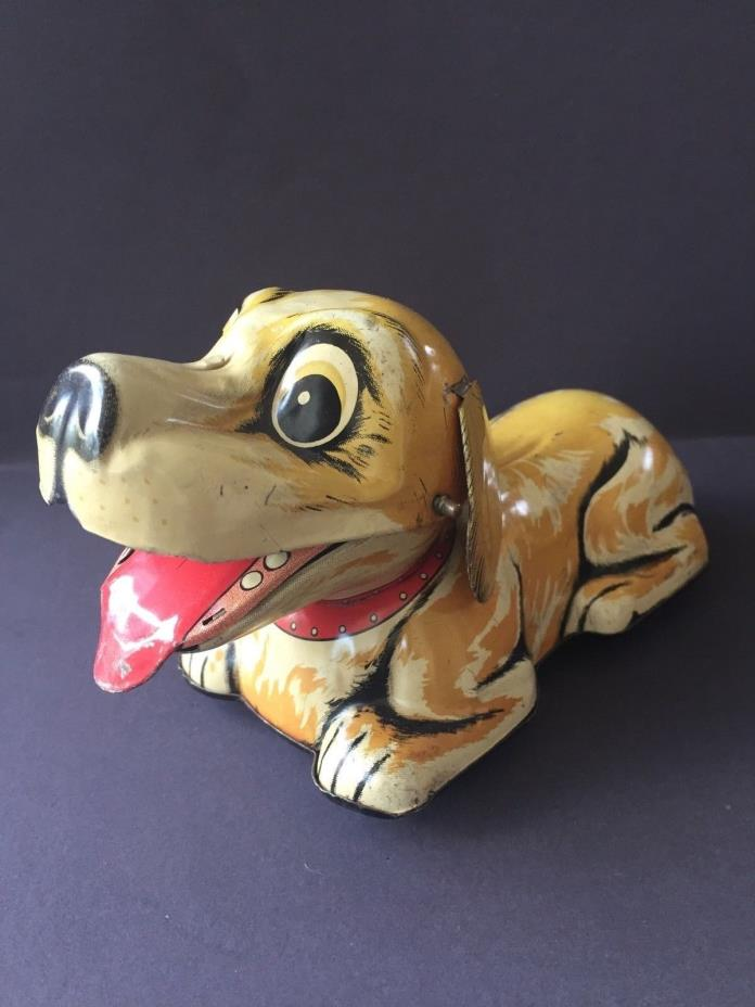 Frankonia / Kanto Toy Company Barky the Dog, Vintage Friction Powered Tin, Japan