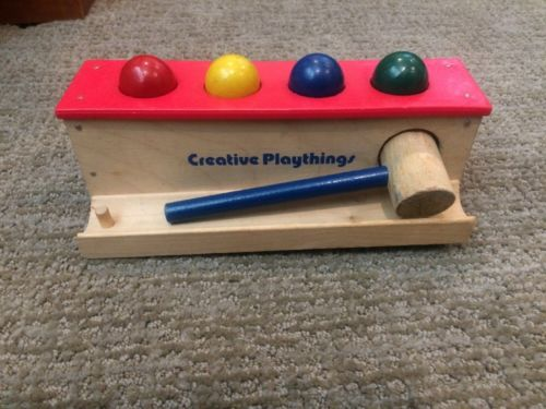 Creative Playthings Wooden Pounding Toy Peg Bench