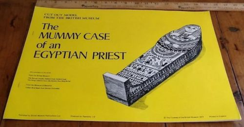 Vintage British Museum Mummy Case of an Egyptian Priest Cardboard Cut Out Model
