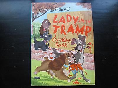 Vintage 1954 Walt Disney's Lady & The Tramp Whitman Coloring Book