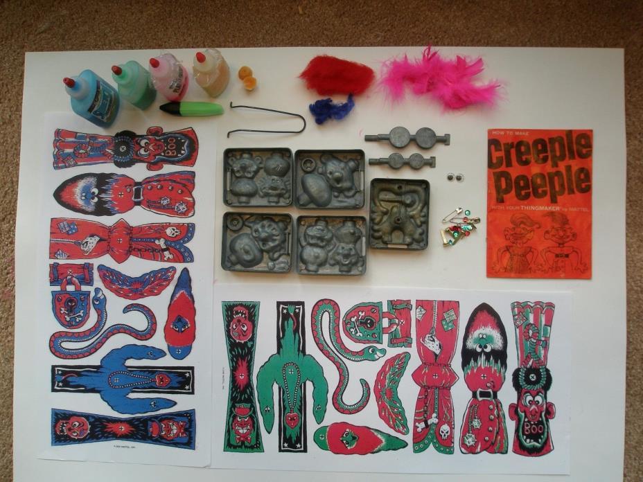 CREEPLE PEEPLE, People, Creepy Crawlers, Thingmaker, Mattel, PLASTI GOOP, 1965