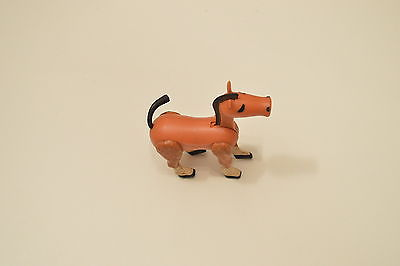 Vintage Litte People Horse Brown, White & Black Western Town, Farm or Castle