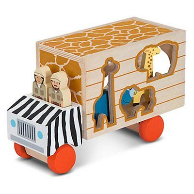 Melissa and Doug Animal Rescue Shape Sorting Truck Playset