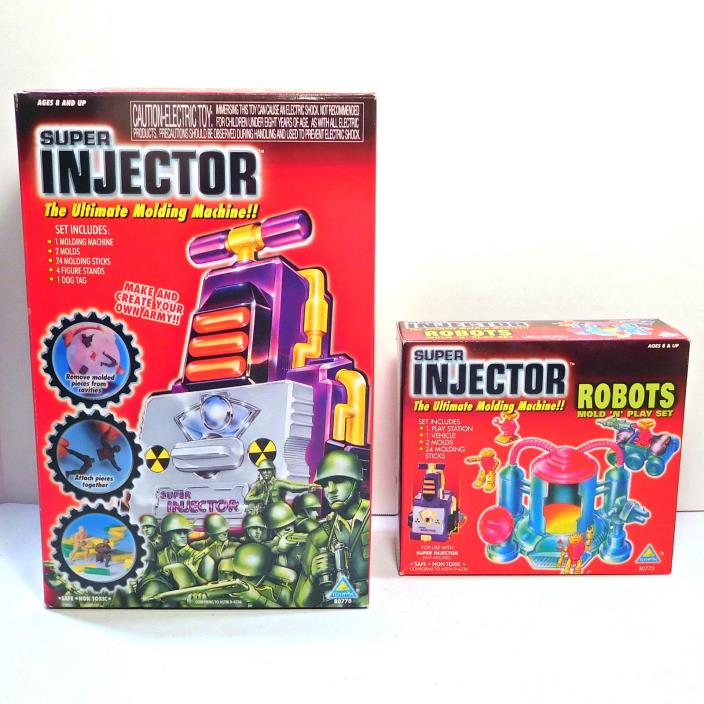 Vintage Toymax Super Injector Set w/Robot Refill Kit, Factory Sealed, 1998, Rare