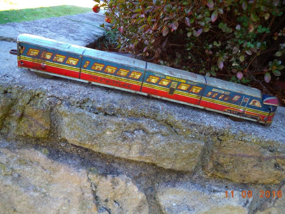 Vintage 1940's Pull Rod 160 Pressed Metal Train    18