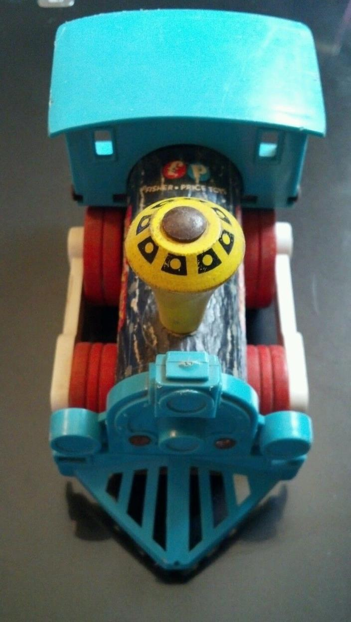 Vintage Original Fisher-Price Dinkey Pull Toy Collectible Train # 642