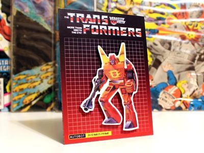 Transformers G1 Autobot Rodimus Prime retro 80's fridge art 4